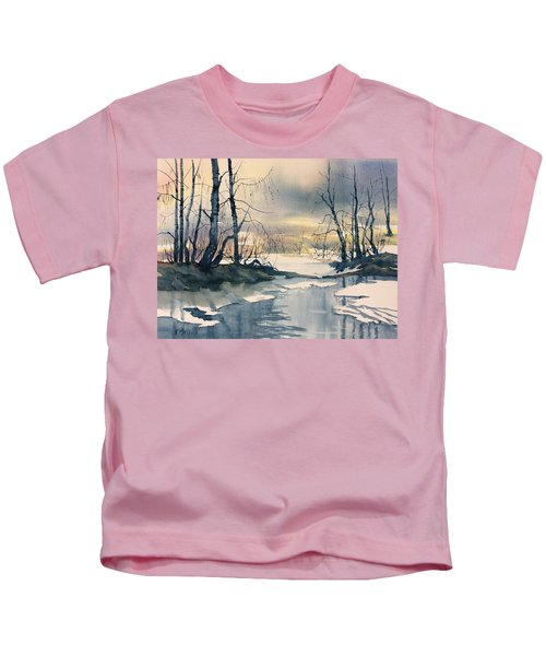 Melt Water On Skipwith Common Kids T-Shirt