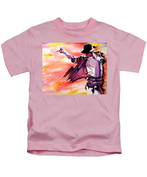 Michael Jackson-billie Jean Kids T-Shirt by Joshua Morton
