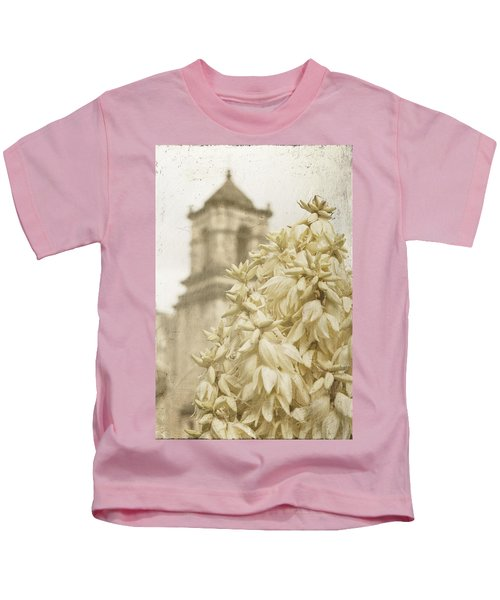 Mission San Jose And Blooming Yucca Kids T-Shirt