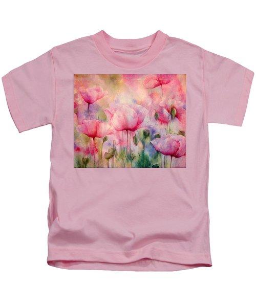 Monet's Poppies Vintage Warmth Kids T-Shirt