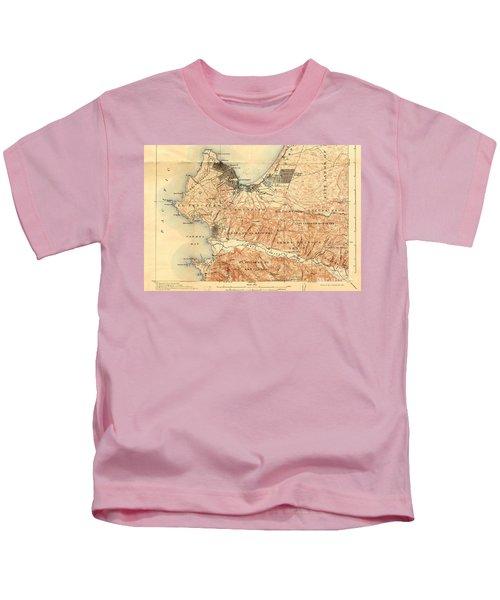 Monterey And Carmel Valley  Monterey Peninsula California  1912 Kids T-Shirt