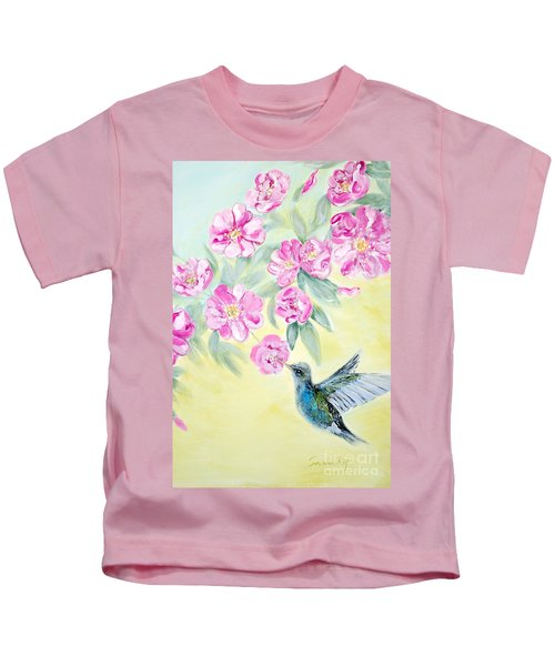 Morning In My Garden. Card Kids T-Shirt