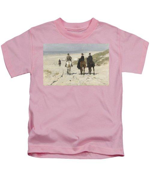 Morning Ride Along The Beach Kids T-Shirt