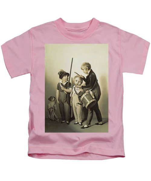 My Little Soldiers, 1809 Oil On Canvas Kids T-Shirt