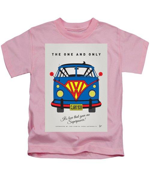 My Superhero-vw-t1-superman Kids T-Shirt