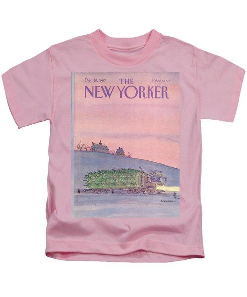 New Yorker December 19th, 1983 Kids T-Shirt