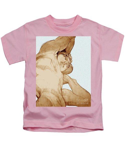Olympic Athletics Discus Throw Kids T-Shirt