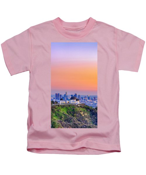 Orangesicle Griffith Observatory Kids T-Shirt