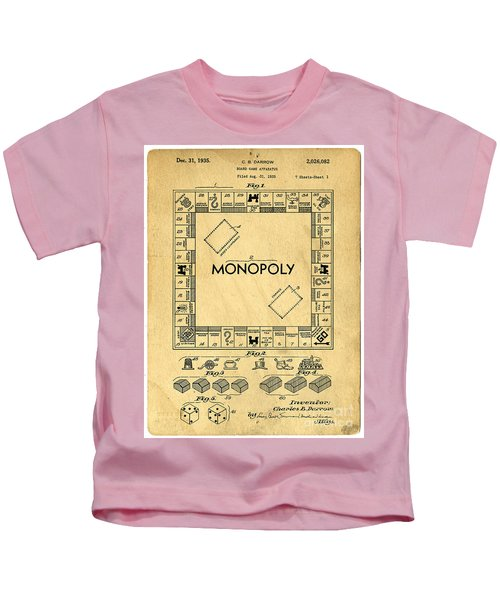 Original Patent For Monopoly Board Game Kids T-Shirt