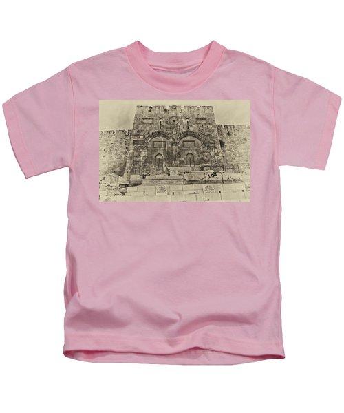 Outside The Eastern Gate Old City Jerusalem Kids T-Shirt