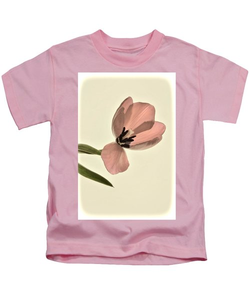 Pale Pink Tulip Kids T-Shirt