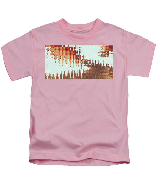 Panoramic City Reflection Kids T-Shirt