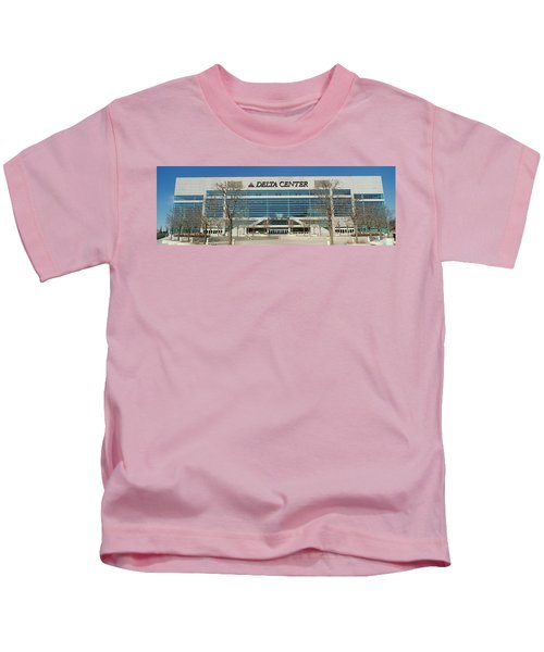 Panoramic Of Delta Center Building Kids T-Shirt