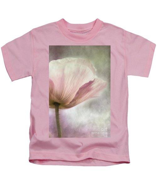 Pastel Pink Poppy Kids T-Shirt