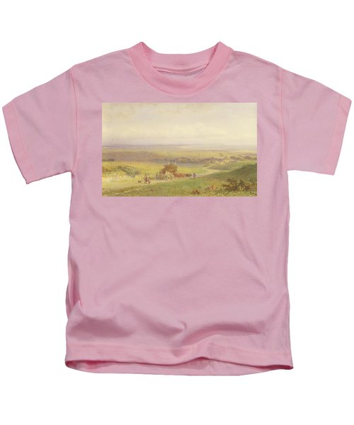 Pevensey Bay, Sussex, 1868 Wc, Bc, Graphite And Scraping On Paper Kids T-Shirt