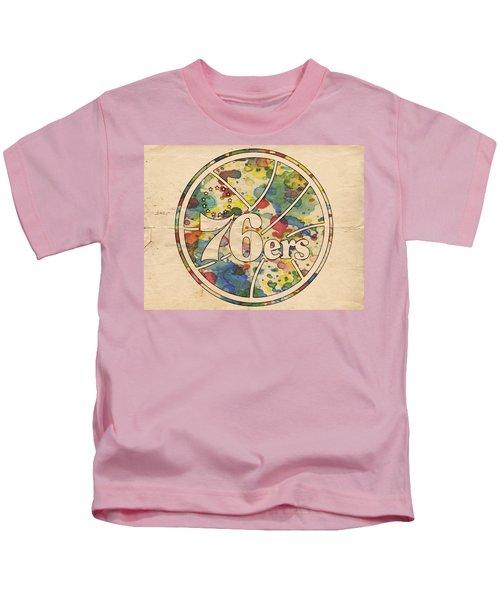 Philadelphia 76ers Retro Poster Kids T-Shirt