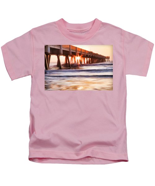 Pier Sunrise Too Kids T-Shirt