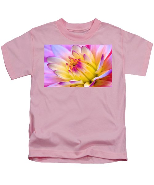 Pink And White Water Lily Kids T-Shirt