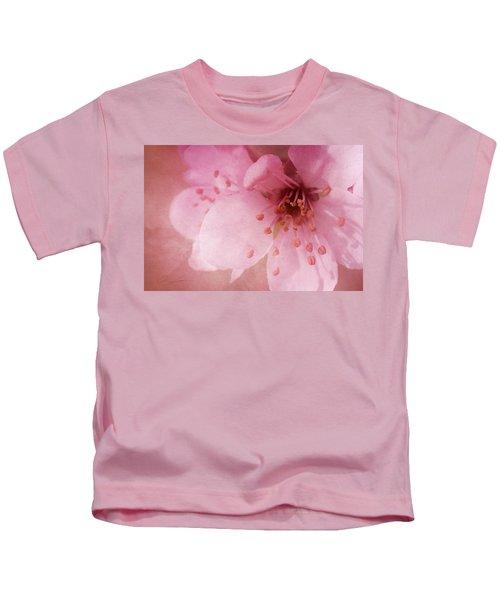 Pink Spring Blossom Kids T-Shirt