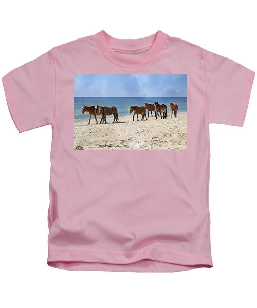 Pony Procession  Kids T-Shirt