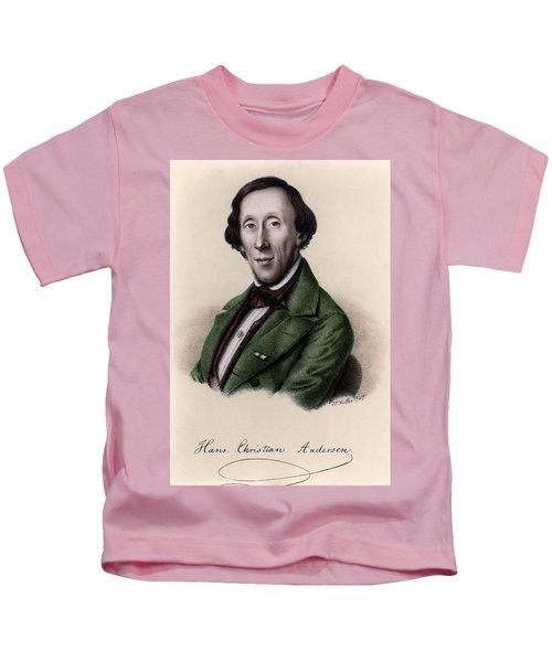 Portrait Of Hans Christian Andersen Kids T-Shirt