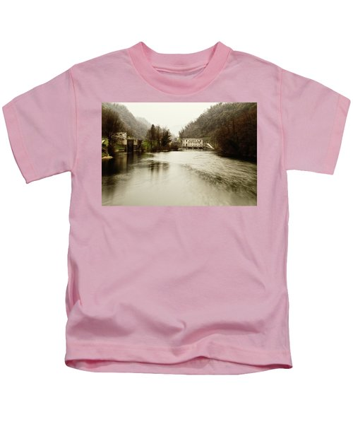 Power Plant On River Kids T-Shirt