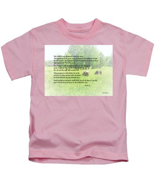 Psalm 23 The Lord Is My Shepherd Kids T-Shirt