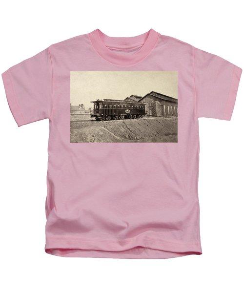 Railroad Car, 1865 Kids T-Shirt