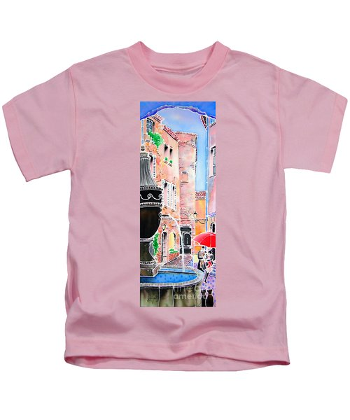 Raining In St-paul De Vence Kids T-Shirt