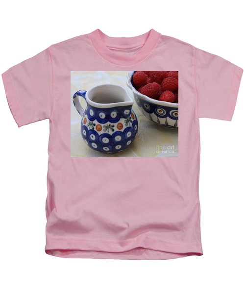 Raspberries With Cream Kids T-Shirt