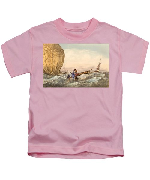 Rescue At Sea Of Downed Balloonists Kids T-Shirt