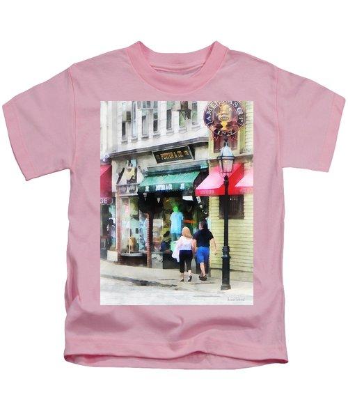 Rhode Island - Thames Street Newport Ri Kids T-Shirt