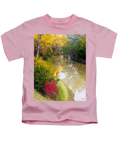 River With Autumn Colors Kids T-Shirt