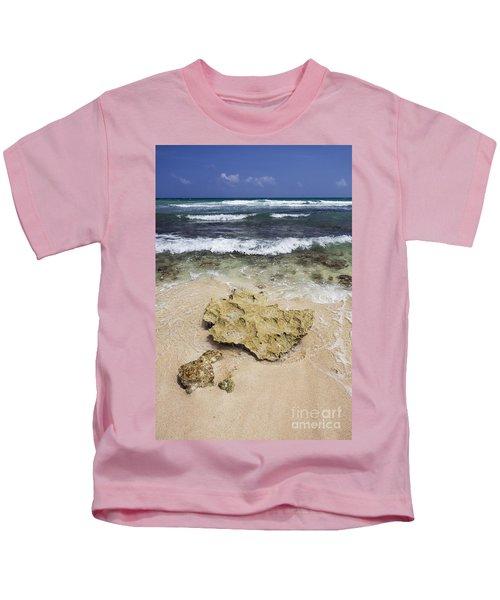 Rocky Shoreline In Tulum Kids T-Shirt
