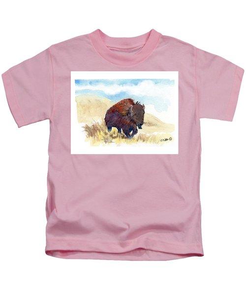 Running Buffalo Kids T-Shirt