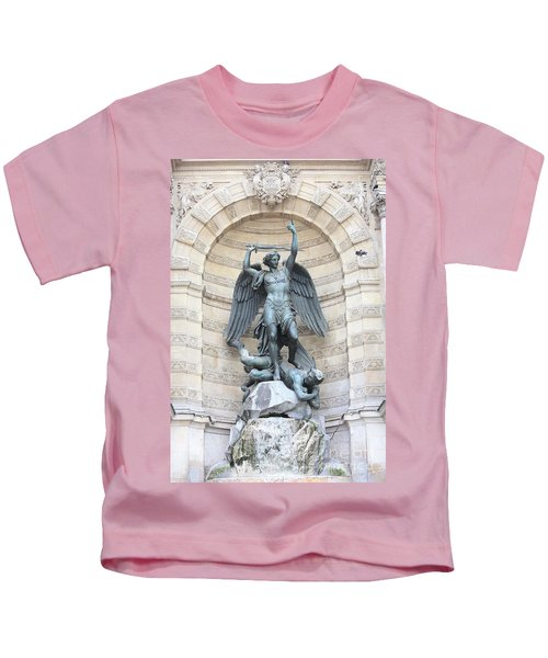 Saint Michael The Archangel In Paris Kids T-Shirt