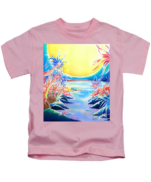 Seashore In The Moonlight Kids T-Shirt