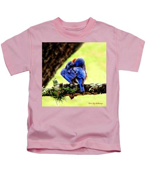 Sleepy Bluebird Kids T-Shirt