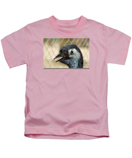 Smiley Face Emu Kids T-Shirt by Kaye Menner