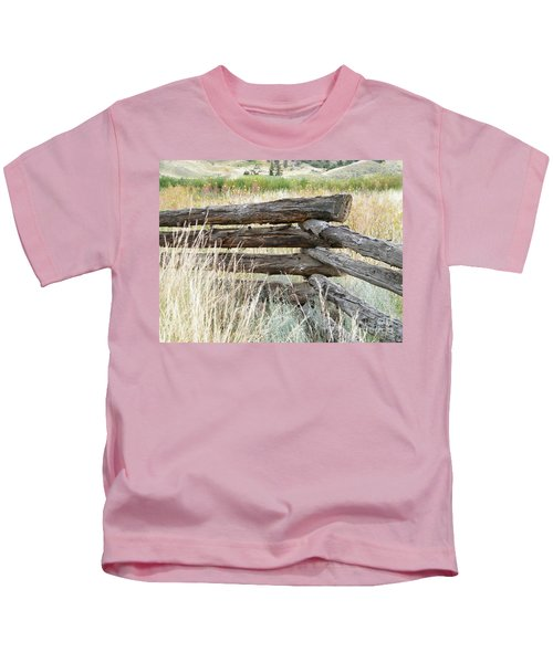 Snake Fence And Sage Brush Kids T-Shirt