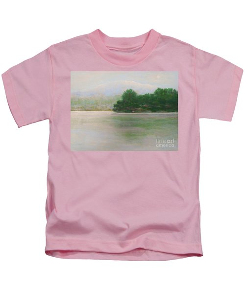 Snow At Beaver Lake Kids T-Shirt