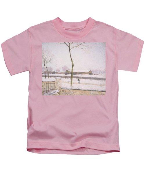 Snow Effect Effet De Neige Pastel On Paper C. 1880-1885 Kids T-Shirt