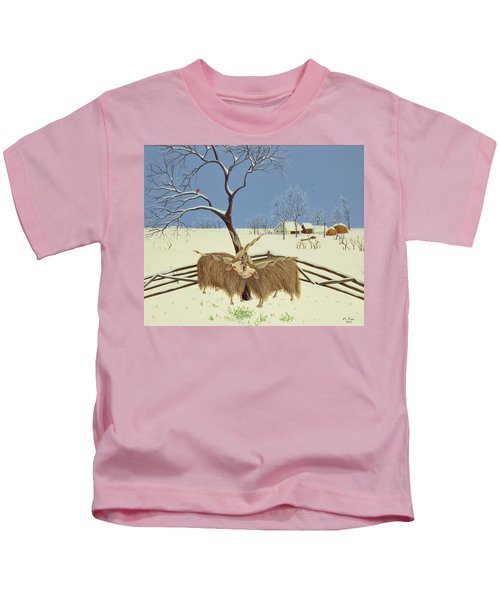 Spring In Winter Kids T-Shirt by Magdolna Ban