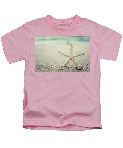 Starfish On Beach Vintage Seaside New Jersey  Kids T-Shirt