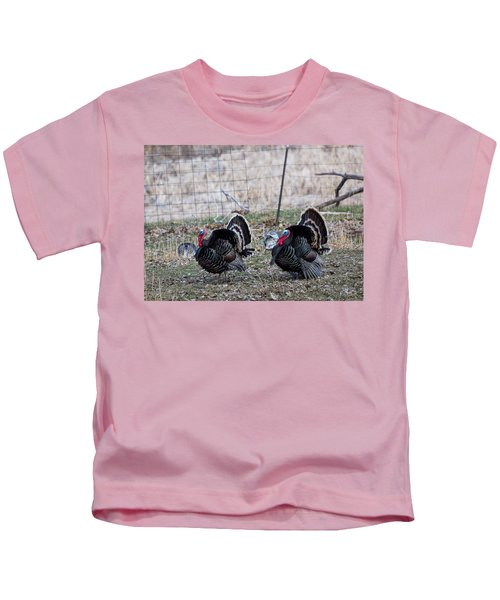 Strutting Turkeys Kids T-Shirt