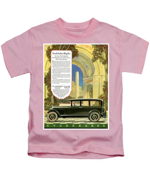Studebaker Big Six - Vintage Car Poster Kids T-Shirt
