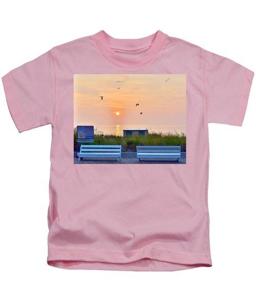 Sunrise At Rehoboth Beach Boardwalk Kids T-Shirt