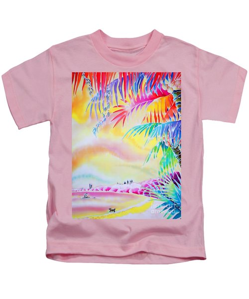 Sunset At Kuto Beach Kids T-Shirt