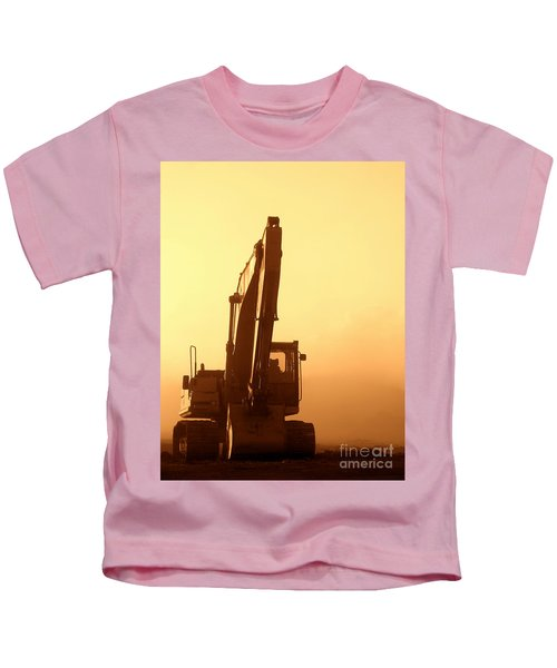 Sunset Excavator Kids T-Shirt