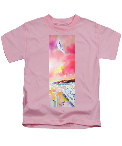 Sunset In Costa Brava Kids T-Shirt